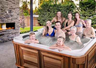 An Arctic Spa can hold the WHOLE family